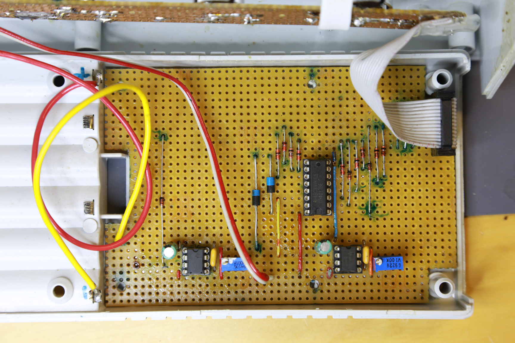 All components on a perfoboard